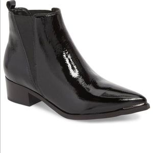 Urban Outfitters Patent Leather Pola Chelsea Boot